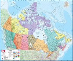 Canada, Political, laminated, boxed by Maps International Ltd.