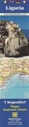 Liguria, Italy, Bookmark Map by Belletti Editore