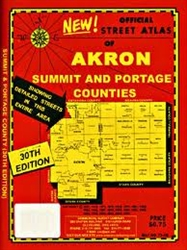Akron, Ohio, Street Atlas by Commercial Survey Co. [no longer available]