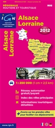 Alsace-Lorraine, France, Regional Map by Institut Geographique National