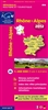 Rhone Alpes, France, Regional Map by Institut Geographique National