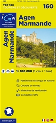 Agen-Marmande, France by Institut Geographique National
