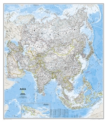 Asia Classic Wall Map (33.25 x 38 inches) by National Geographic Maps [no longer available]