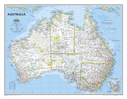 Australia Classic Wall Map (30.25 x 27 inches) by National Geographic Maps [no longer available]
