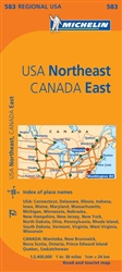 United States, Northeastern and Canada, Eastern (583) by Michelin Maps and Guides [no longer available]