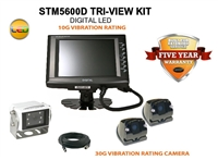 "COMMERCIAL DUTY 5.6"" TRI-VIEW REAR VIEW BACK UP CAMERA KIT"