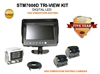"COMMERCIAL DUTY 7"" TRI-VIEW REAR VIEW BACK-UP CAMERA KIT"