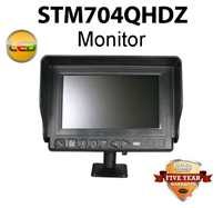 "STM704QHDZM - HEAVY DUTY 7"" (MONITOR ONLY) FOR REARVIEW BACKUP SYSTEM"
