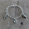 Long Short Cable Chain Bracelet with Swivel Lobster Clasp