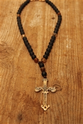 Black and Orange Onyx Cross