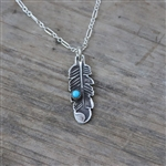 Stamped Feather Pendant