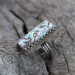 Turquoise Bar Cocktail Ring