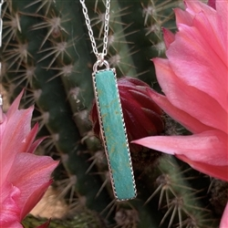 Long Turquoise Bar Necklace