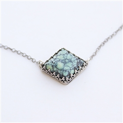 Diamond Shaped Turquoise Necklace