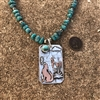 Coyote Scene Necklace