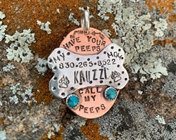 Custom Turquoise Dog Tag
