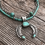 Custom Feather & Turquoise Naja