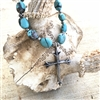 Turquoise Necklace with Sterling Cross