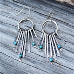 Dangling Turquoise Drop Earrings