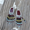 Dangling Beaded Rosarita Earrings