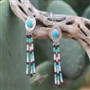 Dangling Beaded Turquoise Earrings 3