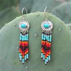 Dangling Beaded Turquoise Earrings 5