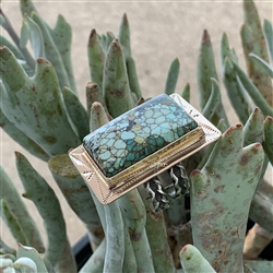 Turquoise Bronze Rectangle Ring