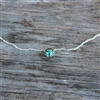 6mm Turquoise Dot Necklace