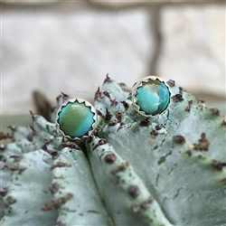 6mm Turquoise Dot Earrings