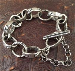 I am Blessed Bracelet with Heart Links