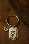 KEY RING IN STERLING SILVER