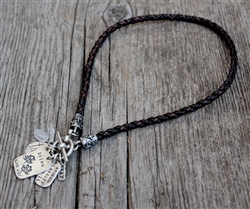 Braided Leather with Fancy Toggle Clasp
