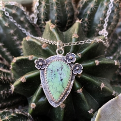 Prickly Pear Cactus with Sterling Blossoms