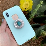 Sterling & Turquoise Pop Socket