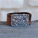 Saddle Pattern Cuff with Rubies