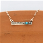 Silver Bar Necklaces - Short