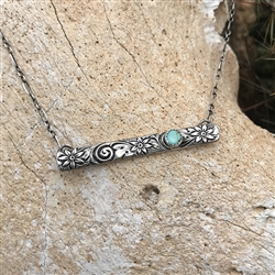 Silver Bar Necklaces - Long
