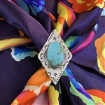 Turquoise Diamond Shaped Scarf Slide