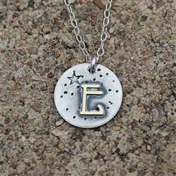 He Calls Them By Name - Initial Pendant