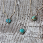 8mm Turquoise Dot Necklace