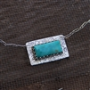 Turquoise Rectangle Necklace