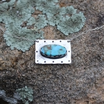 Rectangle Necklace with Oval Turquoise