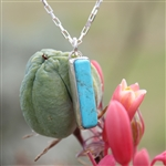 Turquoise Drop Bar Necklace