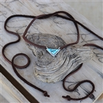 Turquoise Leather Neck Wrap Necklace