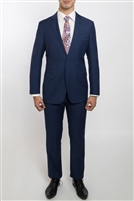 English Laundry Solid Blue Slim Fit  Suit