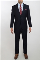 English Laundry Solid Navy Slim Fit Suit