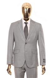Berragamo - REDA | Modern 2-Piece Notch Sharkskin Grey Suit