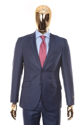 Berragamo - REDA | Modern 2-Piece Notch Sharkskin New Blue Suit