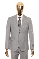 Berragamo - REDA | Slim 2-Piece Notch Sharkskin Grey Suit