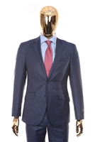 Berragamo - REDA | Slim 2-Piece Notch Sharkskin New Blue Suit